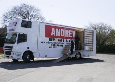 Andrews Removals vans Gloucester